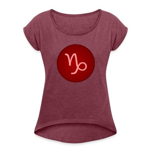 Capricorn Symbol - Women's Roll Cuff T-Shirt