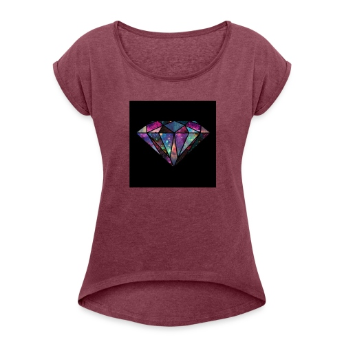 Diamondfashion - Women's Roll Cuff T-Shirt