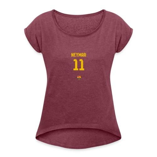 Neymar - Women's Roll Cuff T-Shirt
