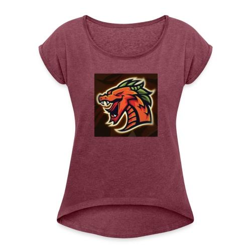 Crazy shooter logo - Women's Roll Cuff T-Shirt