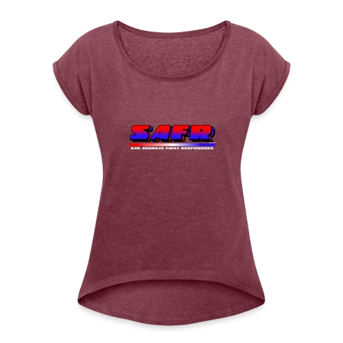SAFR Logo - Women's Roll Cuff T-Shirt