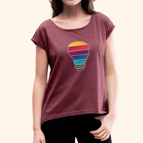 Creativity does not end - Women's Roll Cuff T-Shirt