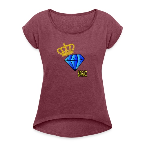 Sagaz diamante - Women's Roll Cuff T-Shirt