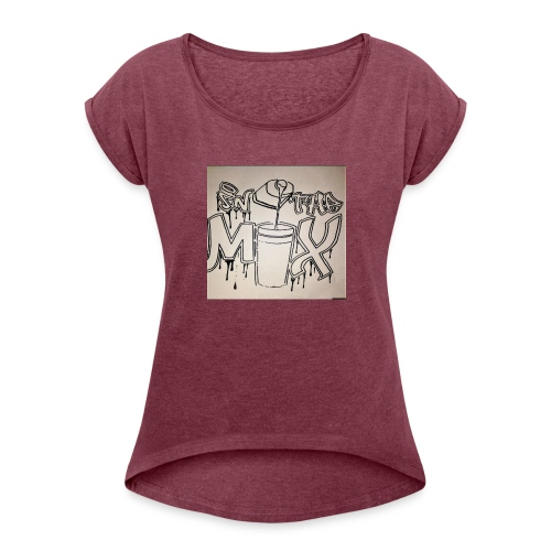 IN THE MIX LOGO - Women's Roll Cuff T-Shirt