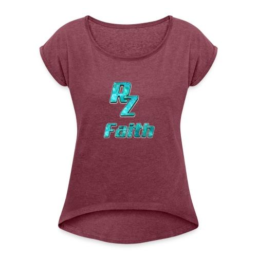 Roze faith appreal - Women's Roll Cuff T-Shirt