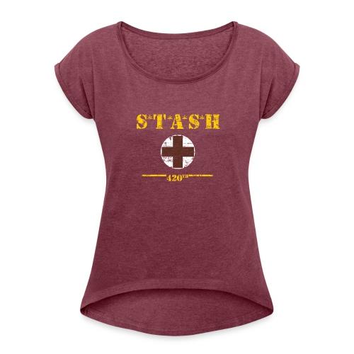 STASH-Final - Women's Roll Cuff T-Shirt