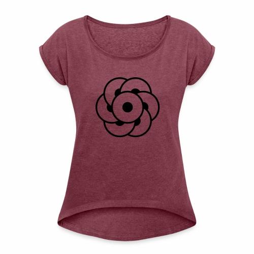 crop circles 32 - Women's Roll Cuff T-Shirt