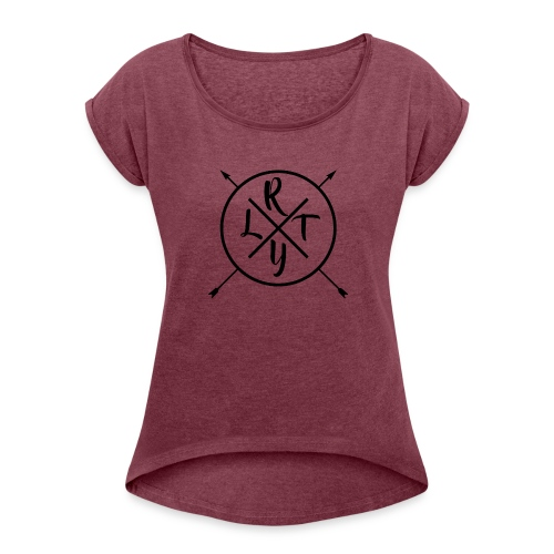 Basic_Logo - Women's Roll Cuff T-Shirt