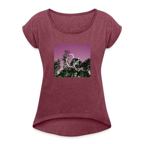 Pink Forest Gart - Women's Roll Cuff T-Shirt
