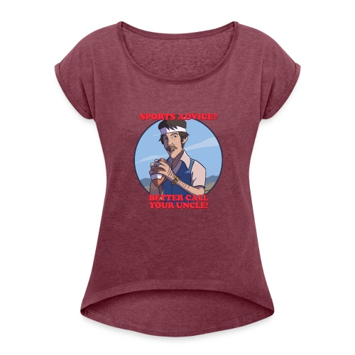 Uncle Odds Fantasy Football Player DFS - Women's Roll Cuff T-Shirt