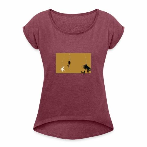 Fishing Shirt Flies - Women's Roll Cuff T-Shirt