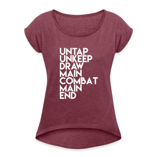 MTG Tower Phases - Women's Roll Cuff T-Shirt