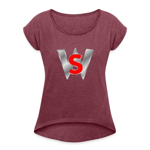Shahmar woleslagle merch - Women's Roll Cuff T-Shirt