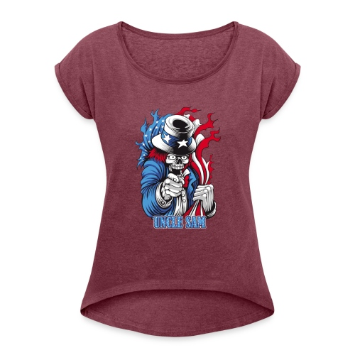 Uncle Sam (united state) - Women's Roll Cuff T-Shirt