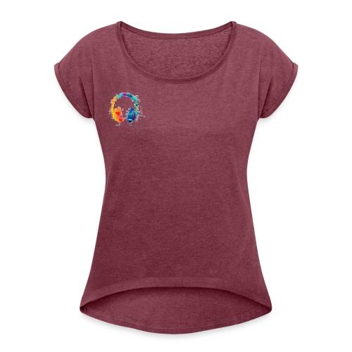Colourful headset - Women's Roll Cuff T-Shirt