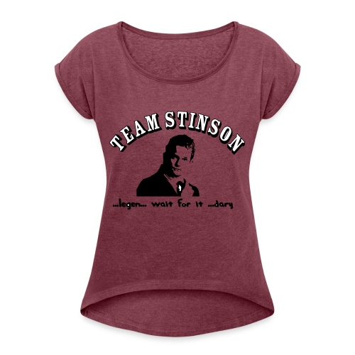 3134862_13873489_team_stinson_orig - Women's Roll Cuff T-Shirt