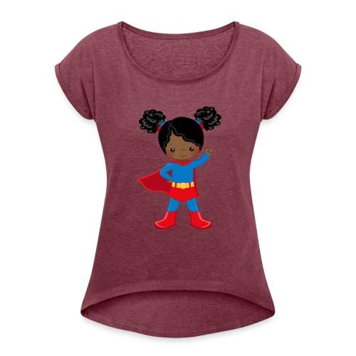 SUPER SIMONE - Women's Roll Cuff T-Shirt