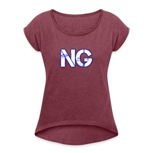 cooltext221976116542463 - Women's Roll Cuff T-Shirt