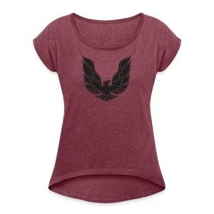 trans am logo - Women's Roll Cuff T-Shirt