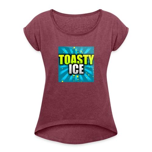 ToastyIce Logo - Women's Roll Cuff T-Shirt