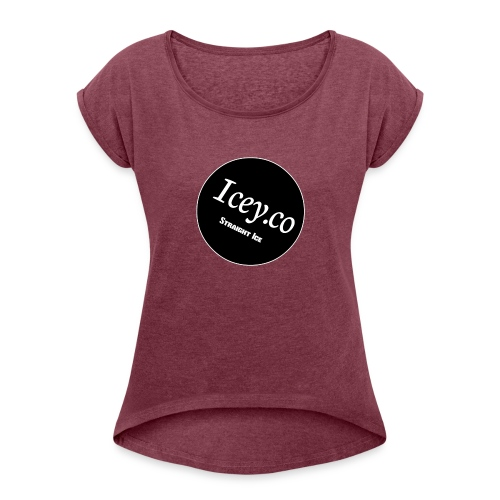 Icey.co straight ice range - Women's Roll Cuff T-Shirt