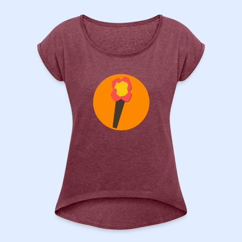 NeoMc Redstone Torch Design - Women's Roll Cuff T-Shirt