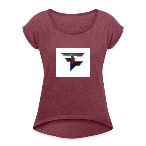 Faze T-shirt - Women's Roll Cuff T-Shirt