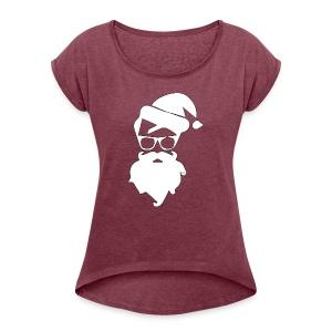 Santa Claus Christmas - Women's Roll Cuff T-Shirt