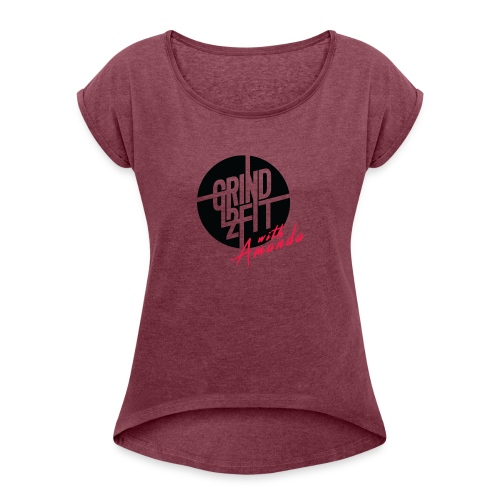 imageedit 3 4491524860 - Women's Roll Cuff T-Shirt
