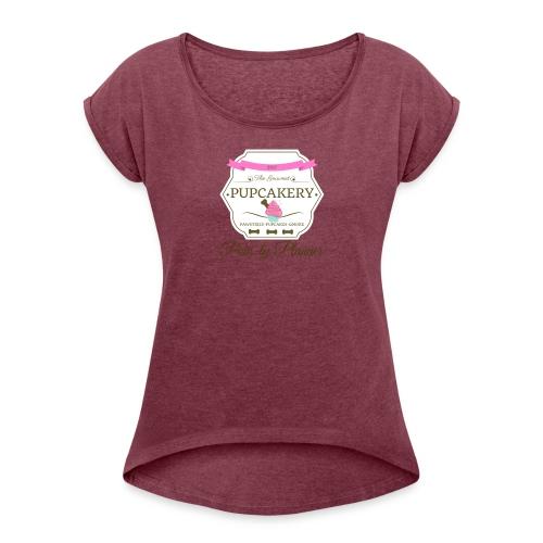 Paw-ty Planner - Women's Roll Cuff T-Shirt