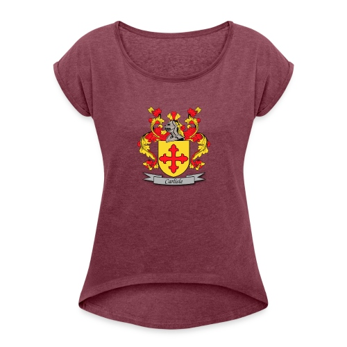 Carlisle Family Crest - Women's Roll Cuff T-Shirt