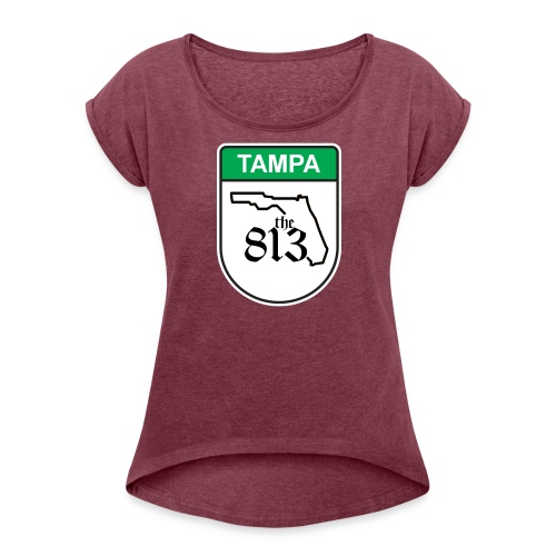 Tampa Toll - Women's Roll Cuff T-Shirt