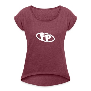 Secondary FRESHPOPCORN Logo - Women's Roll Cuff T-Shirt