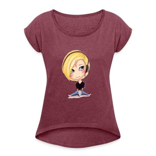 NotSoSaneSavage Logo - Women's Roll Cuff T-Shirt