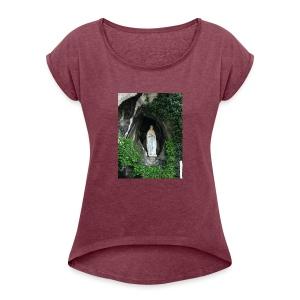 VirgendeLourdes - Women's Roll Cuff T-Shirt