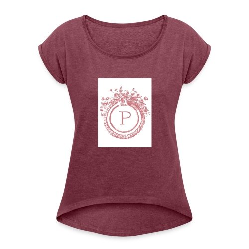 My inital makes me the person i am today - Women's Roll Cuff T-Shirt
