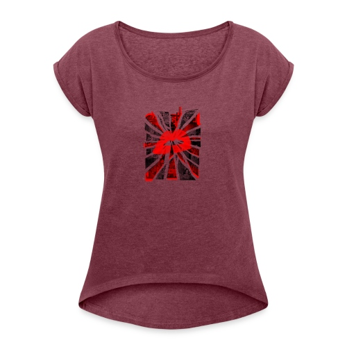 All Roads Lead To A Kiss - Women's Roll Cuff T-Shirt