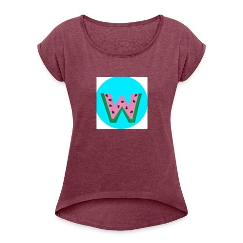 Watdria - Women's Roll Cuff T-Shirt