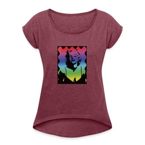 Marylyn M. - Women's Roll Cuff T-Shirt