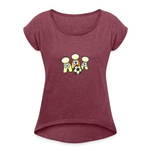 Logo without text - Women's Roll Cuff T-Shirt