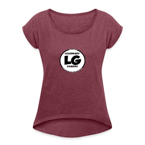 legendarygamers logo - Women's Roll Cuff T-Shirt