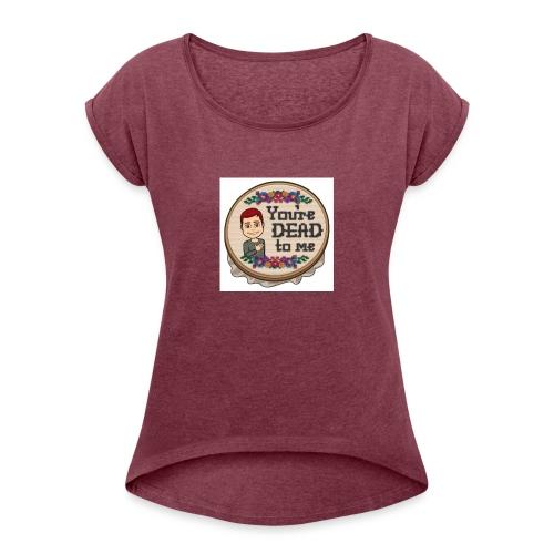 aidansw7rld profile pc - Women's Roll Cuff T-Shirt