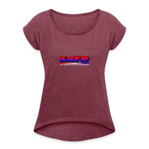 SAFR Logo - Women's Roll Cuff T-Shirt