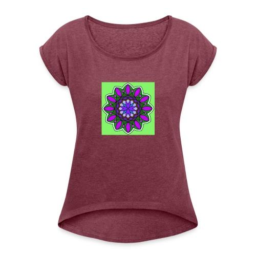 flower of love - Women's Roll Cuff T-Shirt