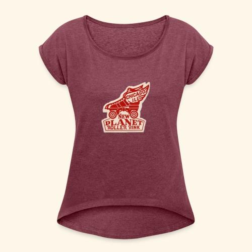 skate geex chi - Women's Roll Cuff T-Shirt