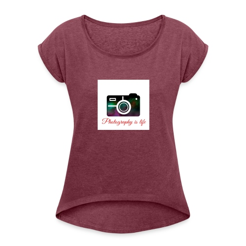 Photography - Women's Roll Cuff T-Shirt