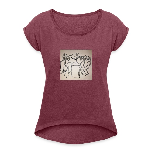 IN THE MIX LOGO - Women's Roll Cuff T-Shirt