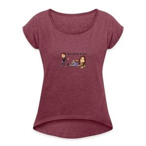 Sarah and Fam - Women's Roll Cuff T-Shirt