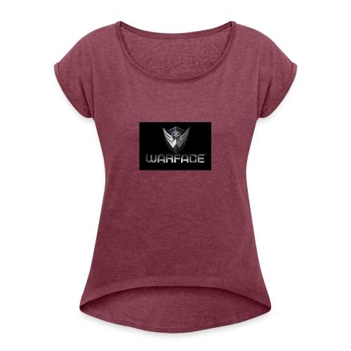 warface-logo - Women's Roll Cuff T-Shirt