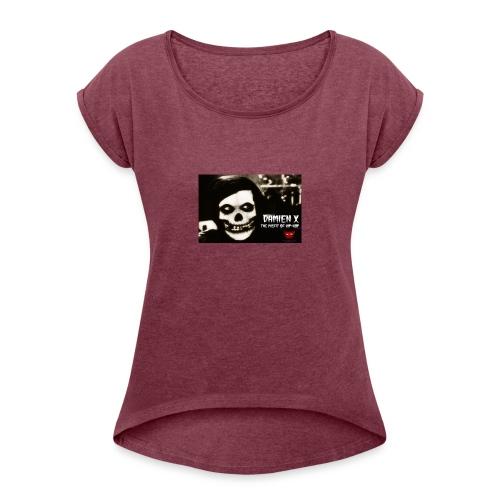 Crimson Ghost Logo - Women's Roll Cuff T-Shirt